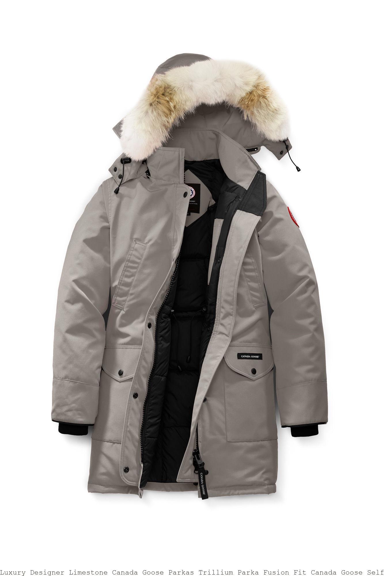 21d333a709df1 Luxury Designer Limestone Canada Goose Parkas Trillium Parka Fusion Fit Canada  Goose Selfridges Uk 6660LA