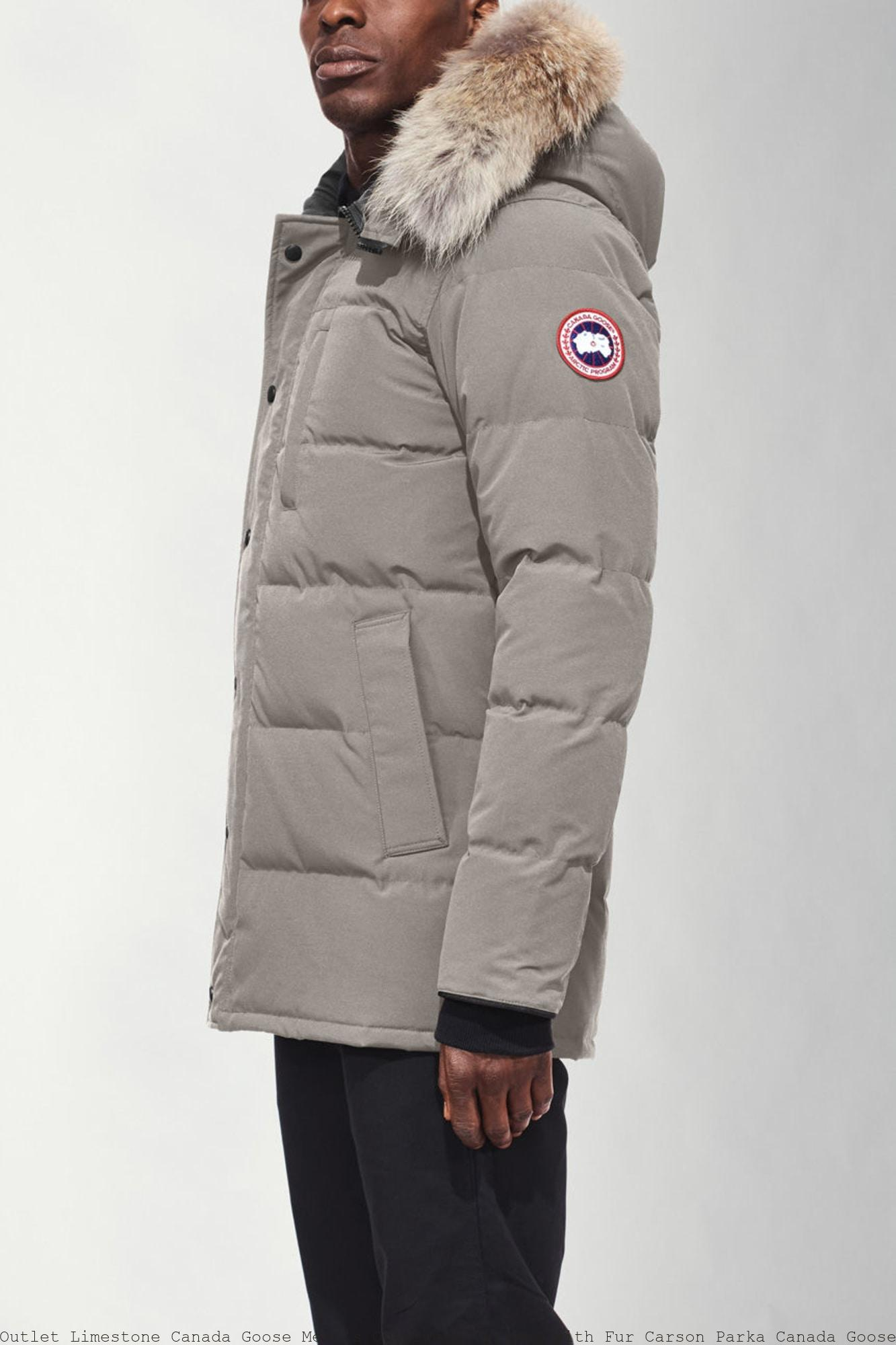Outlet Limestone Canada Goose Men's Outerwear Jackets with Fur Carson Parka Canada Goose Emory Parka Uk 3805M